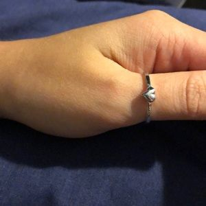 Jewelry - Silver heart stackable ring